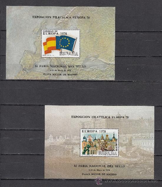 HOJA RECUERDO 60/1 FOURNIER EXP. FIL. EUROPA 78, XI FERIA NAC. SELLO + (Sellos - España - Pruebas y Minipliegos)