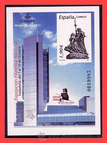 PRUEBAS OFICIALES 2004 EXFILNA 2004 VALLADOLID, EDIFIL Nº 84 (*) (Sellos - España - Pruebas y Minipliegos)