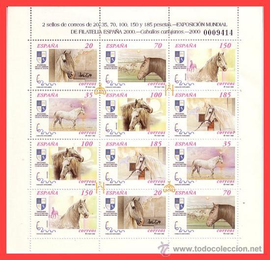 MINIPLIEGO 2000 EXPOSICIÓN MUNDIAL DE FILATELIA ESPAÑA´2000, EDIFIL Nº 69 * * (Sellos - España - Pruebas y Minipliegos)