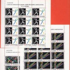 Selos: ESPAÑA - OLIMPIADA / JUEGOS OLIMPICOS BARCELONA - PRE-OLIMPICA - 3 MINI HB - S.C. - NUEVA - AÑO 1989. Lote 32190539