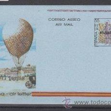 Sellos: ESPAÑA AEROGRAMA 215 MUESTRA, EMILIO HERRERA LINARES, GLOBO, TIRADA LIMITADA RARA. Lote 32425287