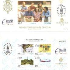 Sellos: ESPAÑA PRUEBA OFICIAL Nº 58/59. EXPOSICIÓN MUNDIAL AVIACION Y ESPACIO. ESPAMER 96. Lote 33084153