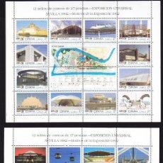 Sellos: ESPAÑA 1992 EXPOSICION UNIVERSAL DE SEVILLA EXPO 92, NUEVAS SIN FIJASELLOS. Lote 33994627