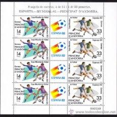 Sellos: ANDORRA 1982 EDIFIL ANDORRA 159 - 160 MUNDIAL DE FUTBOL ESPAÑA 82, NUEVA SIN FIJASELLOS. Lote 33994838
