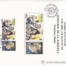 Selos: HOJA RECUERDO AÑO 1983 XVI FERIA NACIONAL DEL SELLO MATASELLADA 22 DE ABRIL. Lote 46780289