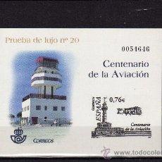 Sellos: ESPAÑA-PRUEBA Nº 82 CENTENARIO AVIACIÓN SEGÚN FOTO. Lote 36098626