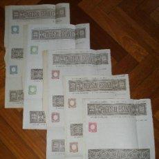 Sellos: FILATELIA FISCAL PRUEBAS 0.000.000. PAPEL PAGOS AL ESTADO 11 DOCUMENTOS 1895.ÚNICO Y RARÍSIMO!. Lote 36656825