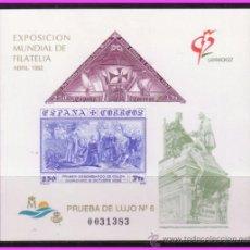 Sellos: PRUEBA OFICIAL 1992 EXPOSICIÓN MUNDIAL DE FILATELIA, EDIFIL Nº 25. Lote 36694367