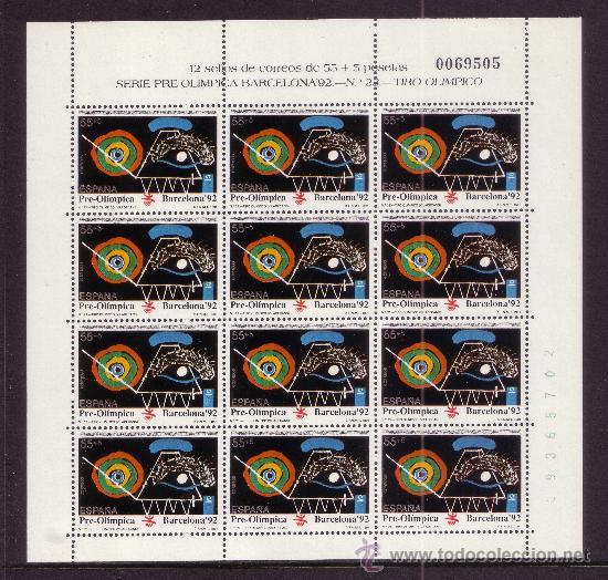 ESPAÑA MP 32/34*** - AÑO 1991 - JUEGOS OLIMPICOS DE BARCELONA - TENIS - TENIS DE MESA - TIRO (Sellos - España - Pruebas y Minipliegos)