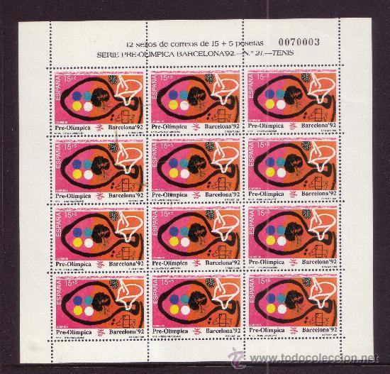 Sellos: ESPAÑA MP 32/34*** - AÑO 1991 - JUEGOS OLIMPICOS DE BARCELONA - TENIS - TENIS DE MESA - TIRO - Foto 3 - 36732403