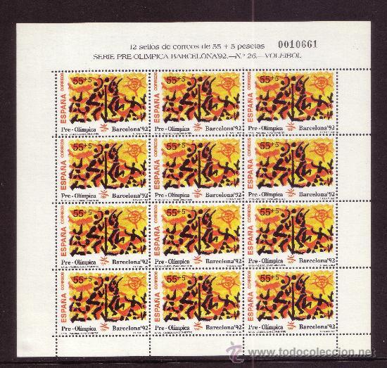 ESPAÑA MP 40/42*** - AÑO 1992 - JUEGOS OLIMPICOS DE BARCELONA - TIRO CON ARCO - VELA - VOLEIBOL (Sellos - España - Pruebas y Minipliegos)