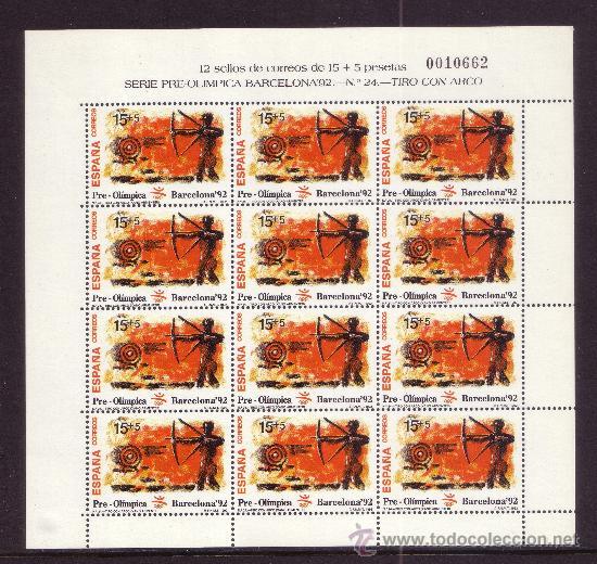 Sellos: ESPAÑA MP 40/42*** - AÑO 1992 - JUEGOS OLIMPICOS DE BARCELONA - TIRO CON ARCO - VELA - VOLEIBOL - Foto 2 - 36732531