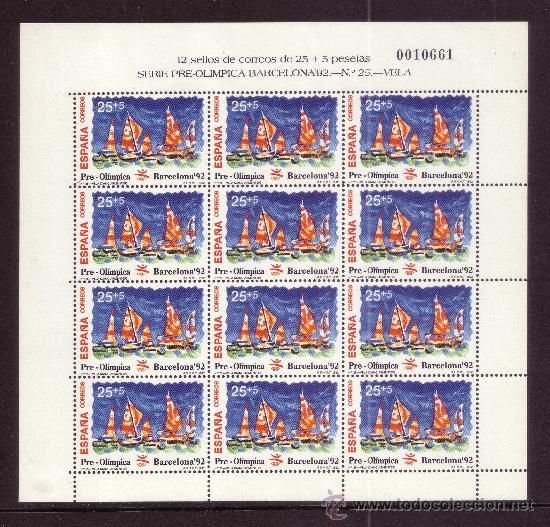 Sellos: ESPAÑA MP 40/42*** - AÑO 1992 - JUEGOS OLIMPICOS DE BARCELONA - TIRO CON ARCO - VELA - VOLEIBOL - Foto 3 - 36732531