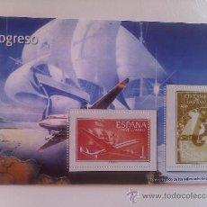 Sellos: HOJA BLOQUE 2 SELLOS. CENTENARIO DEL TELÉGRAFO. 1855-1955. ESPAÑA. . Lote 37404110