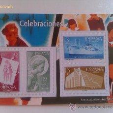 Sellos: HOJA BLOQUE 4 SELLOS. CELEBRACIONES. ESPAÑA. . Lote 37404140