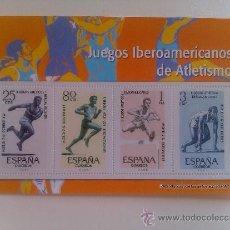 Sellos: HOJA BLOQUE 4 SELLOS. II JUEGOS IBEROAMERICANOS DE ATLETISMO. MADRID. 1962. ESPAÑA. . Lote 37592557