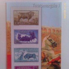 Sellos: HOJA BLOQUE 4 SELLOS. TAUROMAQUIA I. ESPAÑA. . Lote 37838697
