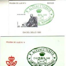 Sellos: ESPAÑA PRUEBA OFICIAL Nº 20 - DIA DEL SELLO 1990. CON ESTUCHE. CAT.27.-. Lote 64160173