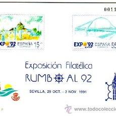 Sellos: ESPAÑA PRUEBA OFICIAL Nº 23 - RUMBO AL 92 - 1991.. Lote 38665265