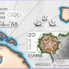 Sellos: HOJITA EXPOSICION NACIONAL FILATELICA -PAMPLONA 88. Lote 40033849