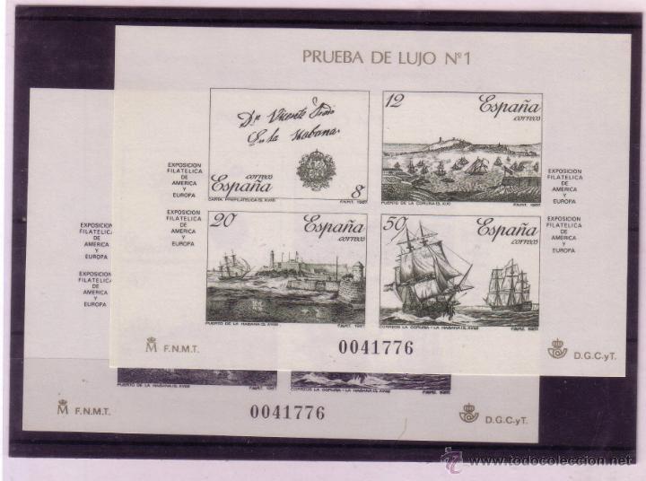 PRUEBAS 12 Y 13 ESPAMER 87 NUEVAS (Sellos - España - Pruebas y Minipliegos)