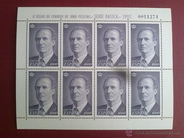 EDIFIL 3403. EXCELENTE MINIPLIEGO 8 SELLOS 1.000 PTAS JUAN CARLOS I DE 1995. (Sellos - España - Pruebas y Minipliegos)