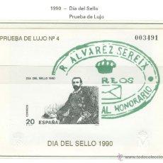Sellos: DÍA DEL SELLO. 1990. PRUEBA OFICIAL Nº 20. PRUEBA DE LUJO Nº 4. EDIFIL 3057P20. Lote 44799846