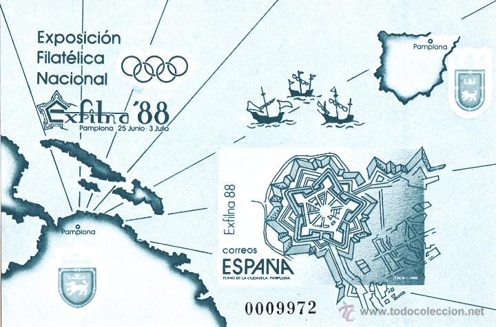 EXFILNA 88. PRUEBA DE LUJO Nº 15 EDIFIL. CIUDADELA PAMPLONA. PERFECTA (Sellos - España - Pruebas y Minipliegos)
