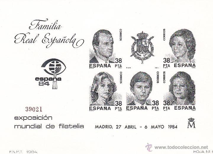 Sellos: EUROPA 84 Y FAMILIA REAL. PRUEBAS OFICIALES 6 Y 7 EDIFIL. PERFECTAS. MISMA NUMERACIÓN - Foto 2 - 45737501