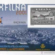 Sellos: EXFILNA 2001 ( PRUEBA OFICIAL ). Lote 46791151