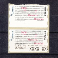 Sellos: ETIQUETA TERMICA C.2.123 NUEVA AÑO DE LA MEMORIA HISTORICA, Nº 3153 AJUSTE, . Lote 50064903