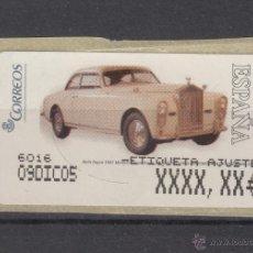 Sellos: ETIQUETA TERMICA C.2.102 NUEVA AUTOMOVIL, COCHES DE EPOCA ROLLS ROYCE, Nº 4331 AJUSTE,. Lote 50065099