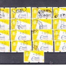 Sellos: ,ETIQUETA KLUSSENDORF C.1.7 USADA, LOTE DE 18 VALORES, EXP. FIL. ESPAMER 96 Y AVIACION Y. Lote 50065945