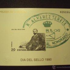 Sellos: PRUEBA DE LUJO AÑO 1990 DÍA DEL SELLO. Lote 91994128