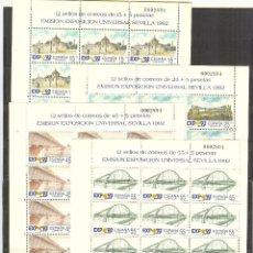 Sellos: EDIFIL MP 24/27 MINIPLIEGO SEVILLA EXPO 1991 MISMO Nº PERFECTO ESTADO.. Lote 51342785