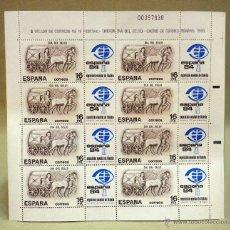 Sellos: MINIPLIEGO, 8 SELLOS, 16 PESETAS, DIA DEL SELLO, CARRO DE CORREO ROMANO, 1983. Lote 52038896