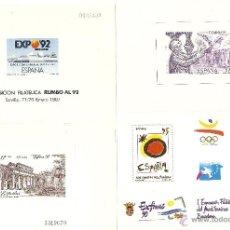 Sellos: 4 PRUEBAS DE LUJO SELLO, EXFILME, EXPO. ETC. NUEVAS, 85, 86, RUMBO AL 92. Lote 58064189