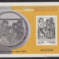 Stamps - HOJA RECUERDO 2001 MILENARIO DEL NACIMIENTO DE SANTO DOMINGO DE SILOS - 53849815