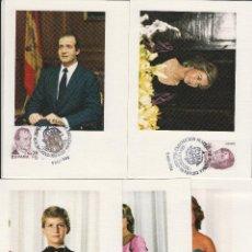 Selos: TARJETA (5) MAXIMA 1984 EXPOSICION ESPAÑA 84 FAMILIA REAL MATASELLOS ESPECIAL 05 MAYO EUROPA. Lote 184897061