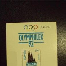 Sellos: PRUEBA OLYMPHILEX 92 AÑO 1992. Lote 91994060