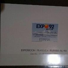 Sellos: PRUEBA FILATELICA DE LA EXPO FILATELICA RUMBO AL 92 DE SEVILLA AÑO 1987.. Lote 54805768
