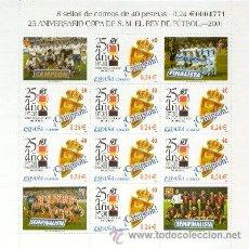 Sellos: ESPAÑA 2001. MINIPLIEGO 25 AÑOS COPA DEL REY. ZARAGOZA. MINIPLIEGO 75. EDIFIL Nº 3805. Lote 210835497