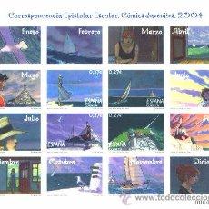 Sellos: ESPAÑA 2004. MINIPLIEGO CORRESPONDENCIA EPISTOLAR ESCOLAR. MINIPLIEGO Nº 81. EDIFIL Nº 4065-68. Lote 55001526