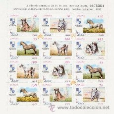 Sellos: ESPAÑA 1998. MINIPLIEGO CABALLOS CARTUJANOS. MINIPLIEGO 62. EDIFIL 3608-13A. Lote 96525199