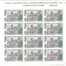 Sellos: MINIPLIEGO Nº 46 (EDIFIL). AÑO 1993. BIENES CULTURALES Y NATURALES PATRIMONIO HUMANIDAD.. Lote 57977858
