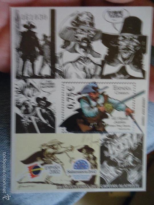 BLOQUE SELLO ORIGINAL CORREOS TEMATICA COMIC COMICS . 0,75 CENTIMOS - EL CAPITAN ALATRISTE . 2002 (Sellos - España - Pruebas y Minipliegos)