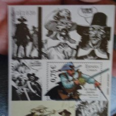 Sellos: BLOQUE SELLO ORIGINAL CORREOS TEMATICA COMIC COMICS . 0,75 CENTIMOS - EL CAPITAN ALATRISTE . 2002. Lote 59830712