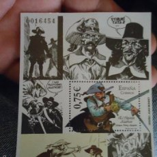 Sellos: BLOQUE SELLO ORIGINAL CORREOS TEMATICA COMIC COMICS . 0,75 CENTIMOS - EL CAPITAN ALATRISTE . 2002. Lote 59830776