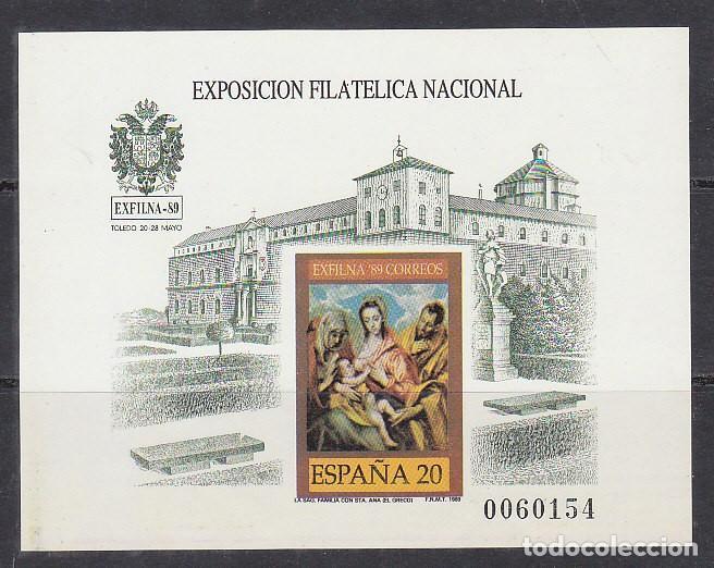 P.O.: XX 19. EXFILNA-89 (2TIRADA) .TOLEDO 1989. (Sellos - España - Pruebas y Minipliegos)