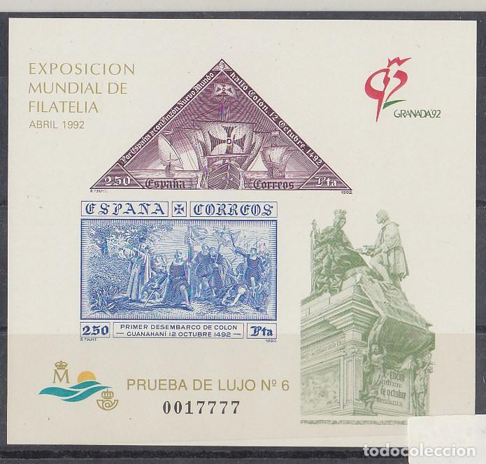 P.O.: XX 25 EXP. MUNDIAL DE FILATELIA-GRANADA 92. (Sellos - España - Pruebas y Minipliegos)